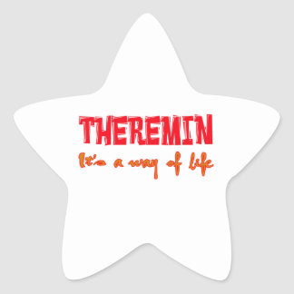 Theremin It's a way of life Star Sticker