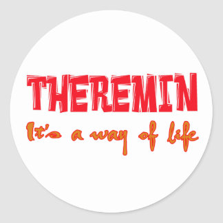 Theremin It's a way of life Round Stickers