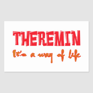 Theremin It's a way of life Rectangular Stickers