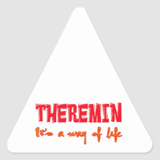 Theremin It's a way of life Triangle Stickers