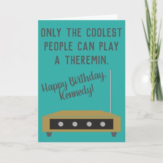Theremin Musical Instrument Happy Birthday Card