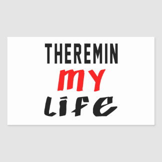 Theremin my life rectangle sticker