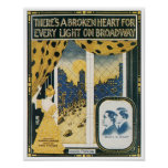There's A Broken Heart For Every Light On Broadway Poster