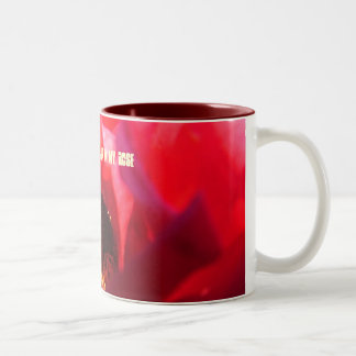 There's a bug in my rose (Full picture) Two-Tone Coffee Mug