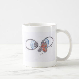There's a butterfly on my nose. coffee mug