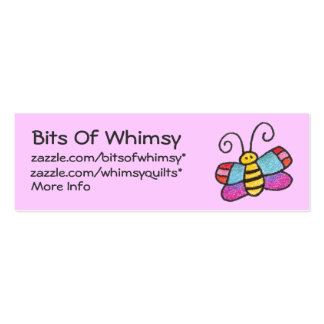 There's A Butterfly On My Profile Card! Double-Sided Mini Business Cards (Pack Of 20)