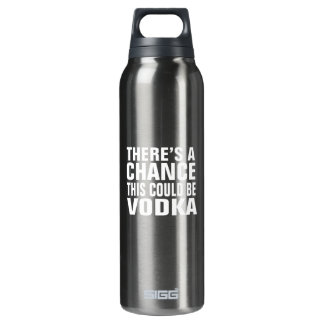 There's a chance this could be vodka - pink 16 oz insulated SIGG thermos water bottle