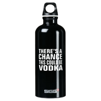 There's a chance this could be vodka - pink water bottle