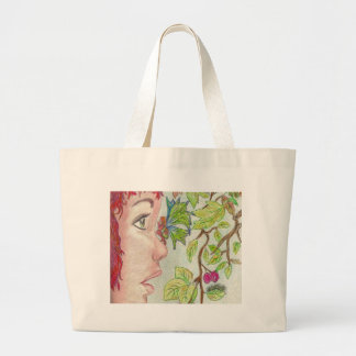 theres a fairy on my nose (2) large tote bag