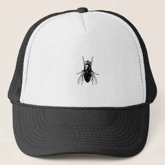 There's a huge fly on you! trucker hat