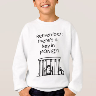 There's a Key in Monkey T-shirt.png Sweatshirt