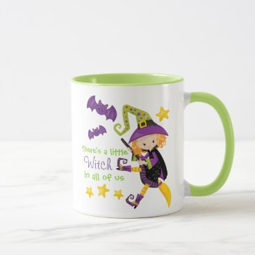 Halloween Themed There's A Little Witch Halloween Mug