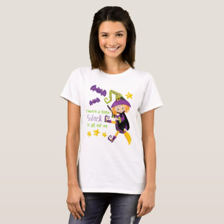 There's A Little Witch Halloween T-Shirt