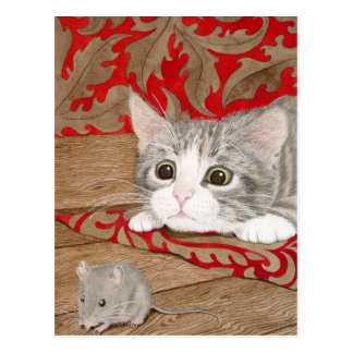 There's a mouse in the house! postcard