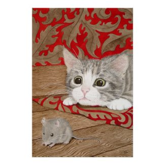 There's a mouse in the house! posters