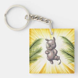There's a New Rhino in Town Rhino Dance Keychain