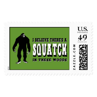 There's a Squatch In These Woods! Bigfoot Lives Postage