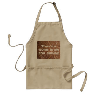 There's a WORM in my EGG CREAM! Adult Apron