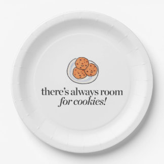 There's Always Room for Cookies Paper Plate