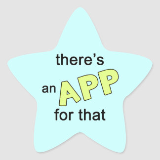 There's an App for that Star Sticker
