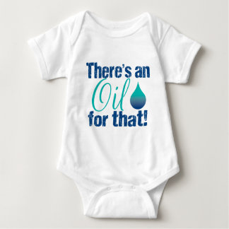 There's an oil for that blue teal baby bodysuit