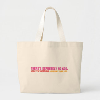 There's Definitely No God Large Tote Bag