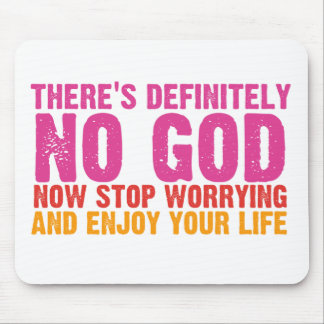 There's Definitely No God (Vertical) Mouse Pads
