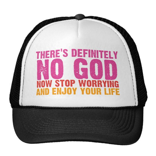 There's Definitely No God (Vertical) Trucker Hat