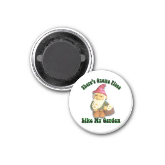 There's Gnome Place Like My Garden Gifts 1 Inch Round Magnet