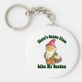 There's Gnome Place Like My Garden Gifts Keychain