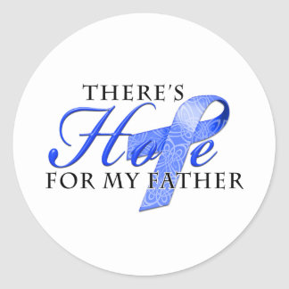There's Hope for Colon Cancer Father Classic Round Sticker