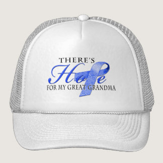 There's Hope for Colon Cancer Great Grandma Trucker Hat