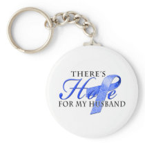 There's Hope for Colon Cancer Husband Keychain