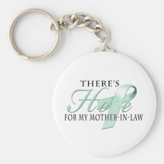 There's Hope for Ovarian Cancer Mother-In-Law Keychain