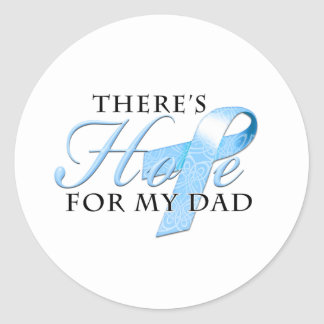 There's Hope for Prostate Cancer Dad Classic Round Sticker