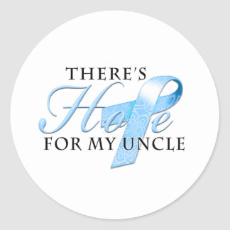 There's Hope for Prostate Cancer Uncle Classic Round Sticker