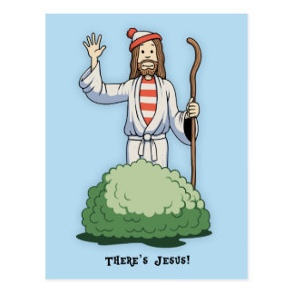 There's Jesus! Postcard