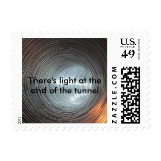 There's light at the end of the tunnel postage