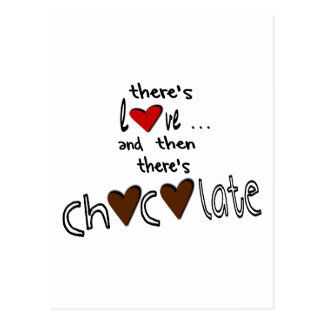 There's Love . . . And Then There's Chocolate Postcard