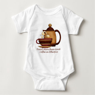 There's More than Good Coffee in Ethiopia Baby Bodysuit