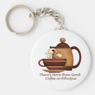 There's More than Good Coffee in Ethiopia Key Chains