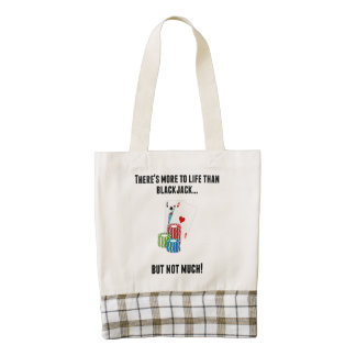 There's More To Life Than Blackjack Zazzle HEART Tote Bag