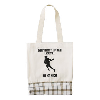 There's More To Life Than lacrosse Zazzle HEART Tote Bag