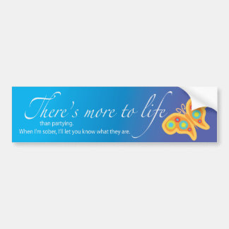 There's more to life than partying. car bumper sticker