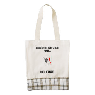 There's More To Life Than Poker Zazzle HEART Tote Bag