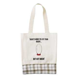 There's More To Life Than Rugby Zazzle HEART Tote Bag