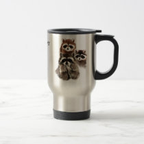 There's never too many Quote Raccoons Cute Animal Travel Mug
