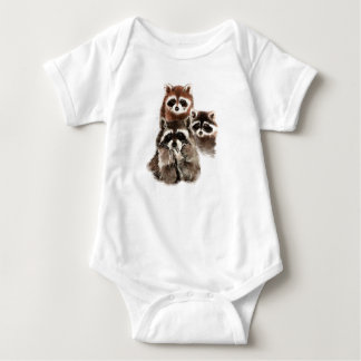 There's never too many Raccoons Cute Animal Baby Bodysuit