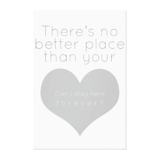There's no better place than your heart (Gray) Canvas Print