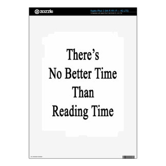 There's No Better Time Than Reading Time iPad 3 Skin